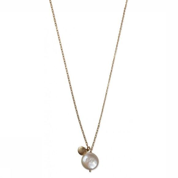 Yaya Ketting Pearl And Shell Goud