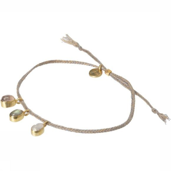 Yaya Armband With 3 Stones Lichtkaki/Assortiment