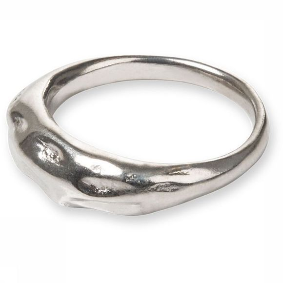 Yaya Ring Hammered Ring Zilver