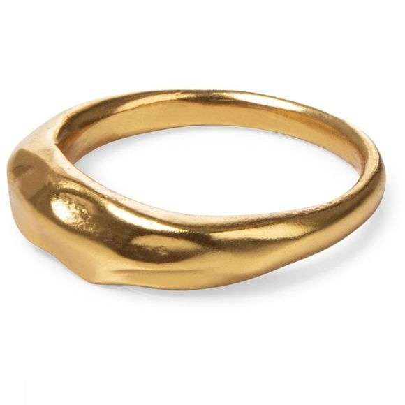 Yaya Ring Hammered Ring Goud