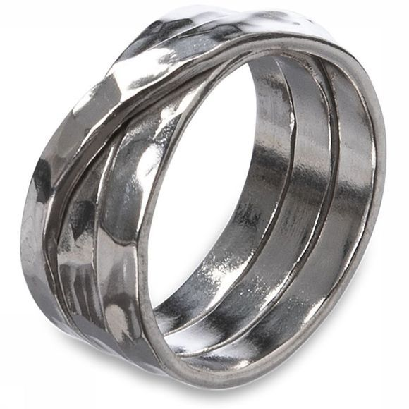 Yaya Ring Twisted Hammered Ring Zilver