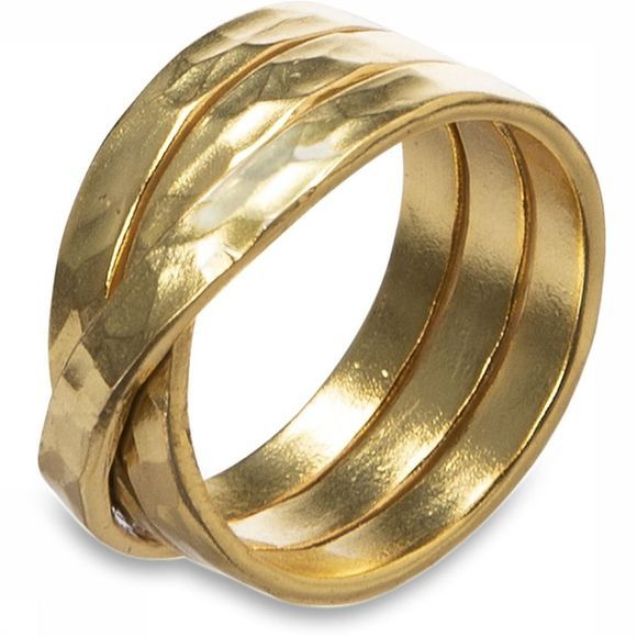 Yaya Ring Twisted Hammered Ring Goud