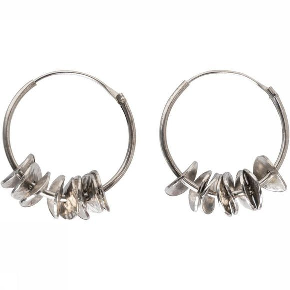 Yaya Oorbel Hoop Earrings With Coins Zilver