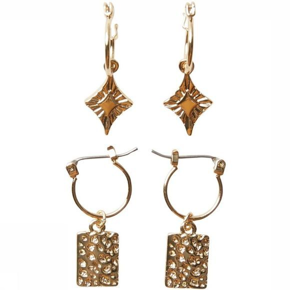 Pieces Oorbel nynna Earring 2-Pack Goud