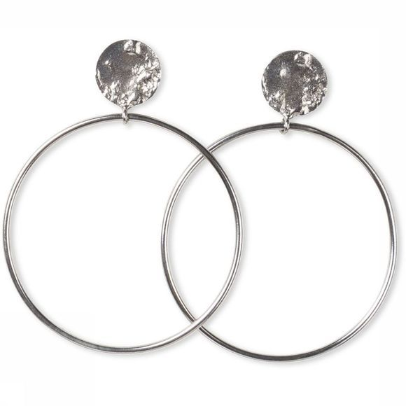 Yaya Oorbel Hoop Earrings Zilver