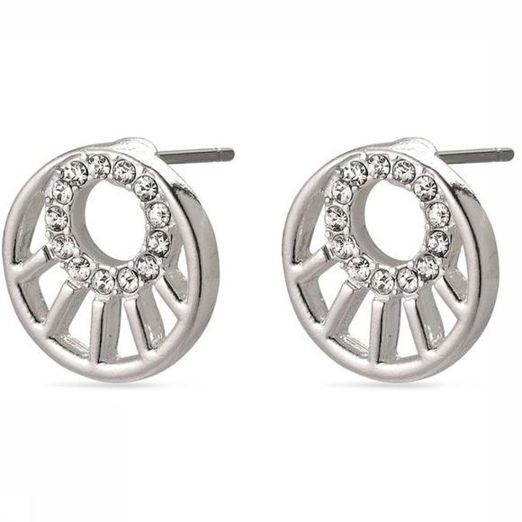 Pilgrim Earring Cassie  Silver Plated Crystal silver