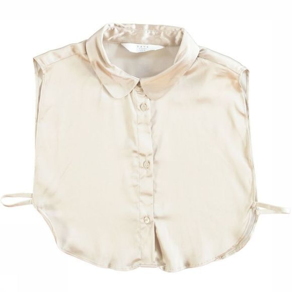 Yaya Blouse Collar Satin Ecru