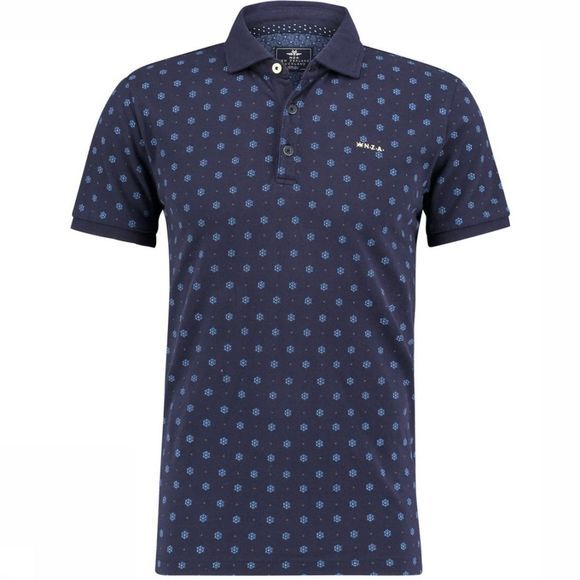 NZA Polo Stanley Donkerblauw/Assortiment Geometrisch