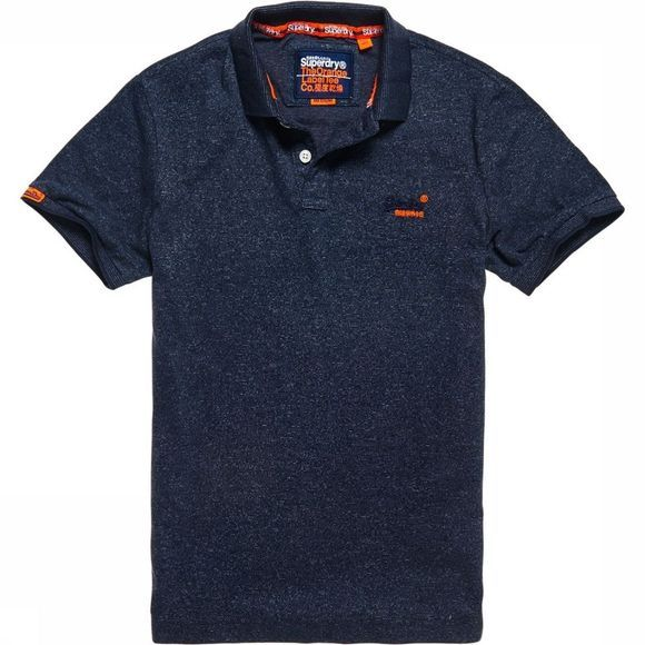 Superdry Polo Orange Label Jersey Jeansblauw