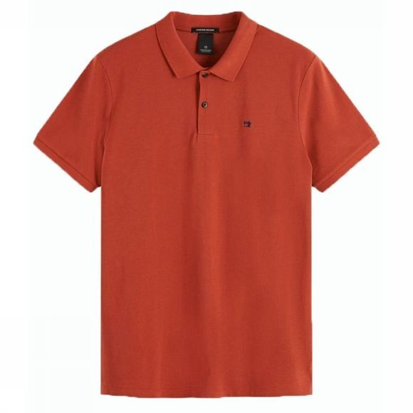 Scotch & Soda Polo Classic Cotton Pique Roest