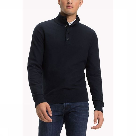 Tommy Hilfiger Pullover finsturctured dark blue