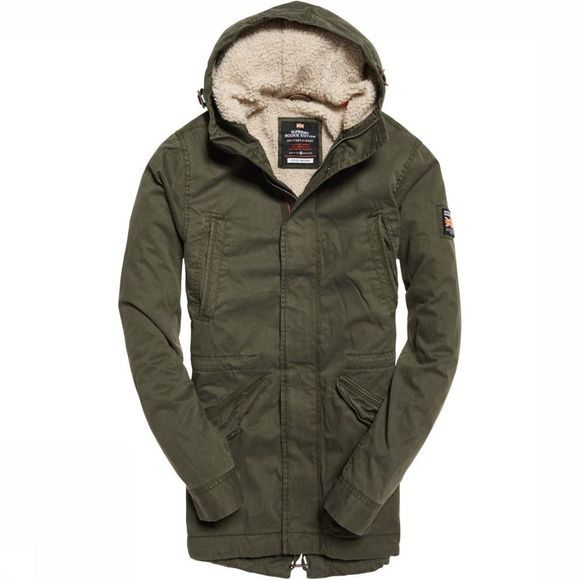 Superdry Jas New Military Parka Donkerkaki