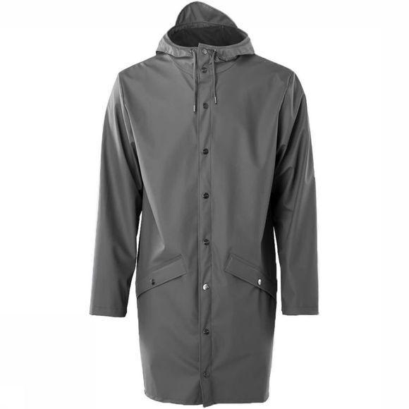Rains Jas Long Jacket Donkergrijs
