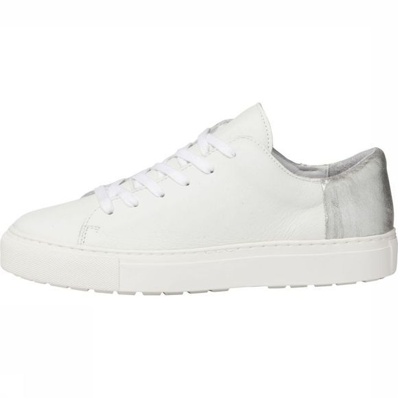 Sneaker Low Top Leather With Metallic Detail