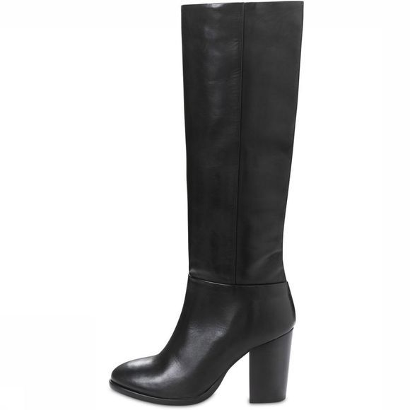 Yaya Laars High Leather Boot Zwart