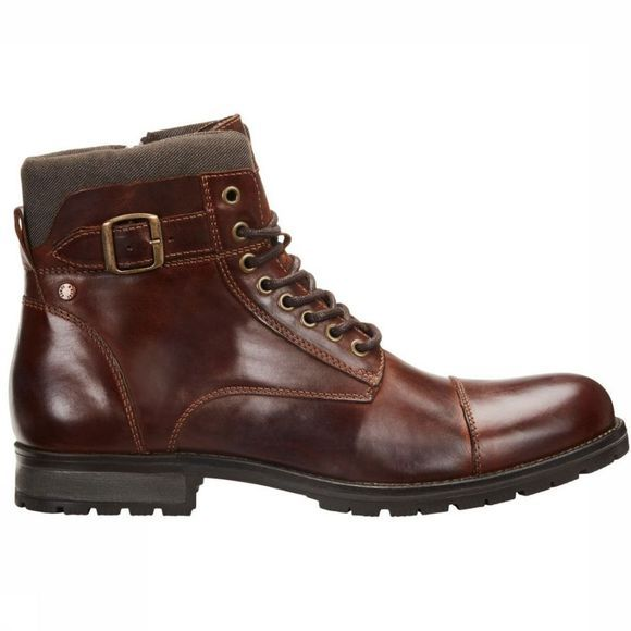 Jack & Jones Bottine Jfw Albany Leather Noos Donkerbruin