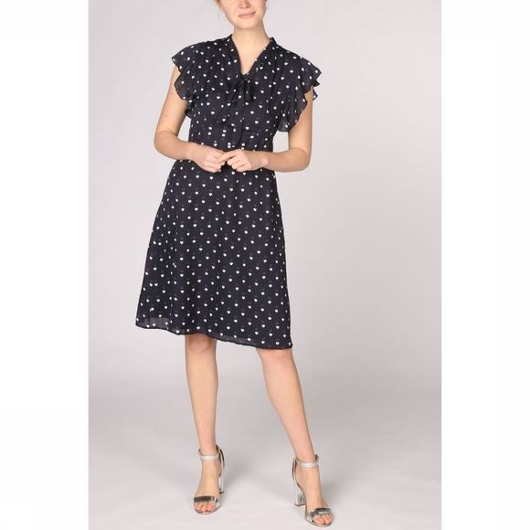 Sugarhill Boutique Jurk Florrie Heart Dots Marineblauw/Assortiment