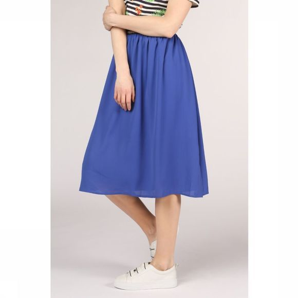 Sugarhill Boutique Rok Gia Block Colour Midi Koningsblauw