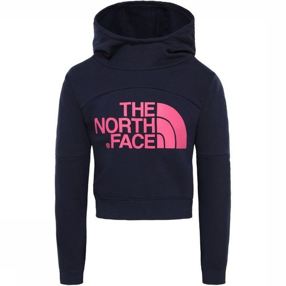 The North Face Pull Girl'S Cropped Hoodie marine/Fuchsia