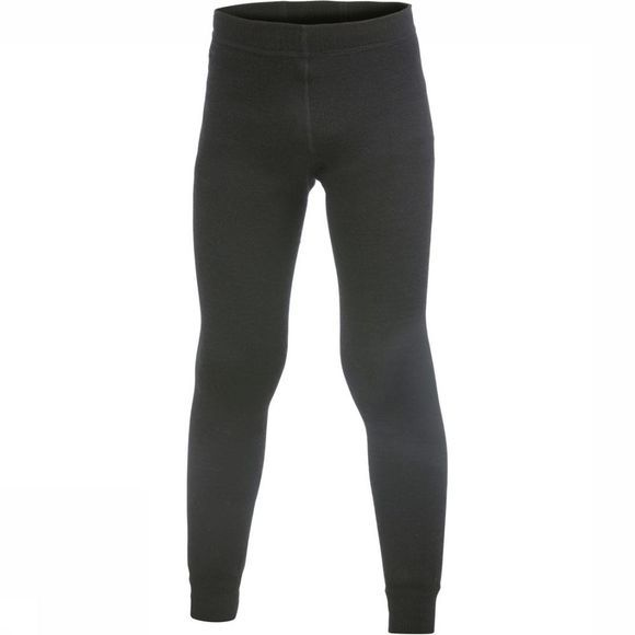 Woolpower Broek Long Johns 200 (kids baselayer) Zwart