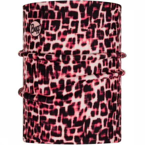 Buff Buff Kids Reversible Polar Neckwarmer Savage Pink Black Zwart/Middenroze
