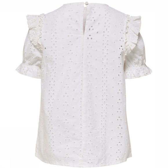 Kids Only Blouse kia S/S Blanc
