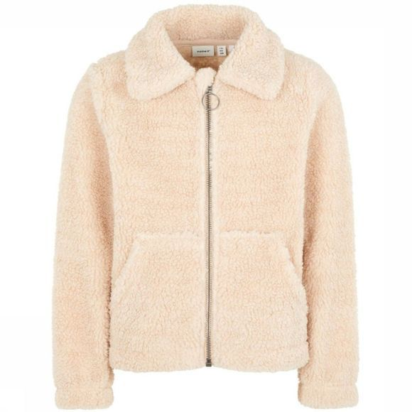 Name It Blazer folga Teddy Jacket Blanc Cassé
