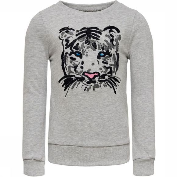 Kids Only Pull tiger L/S O-Neck Swt Gris Clair Mélange