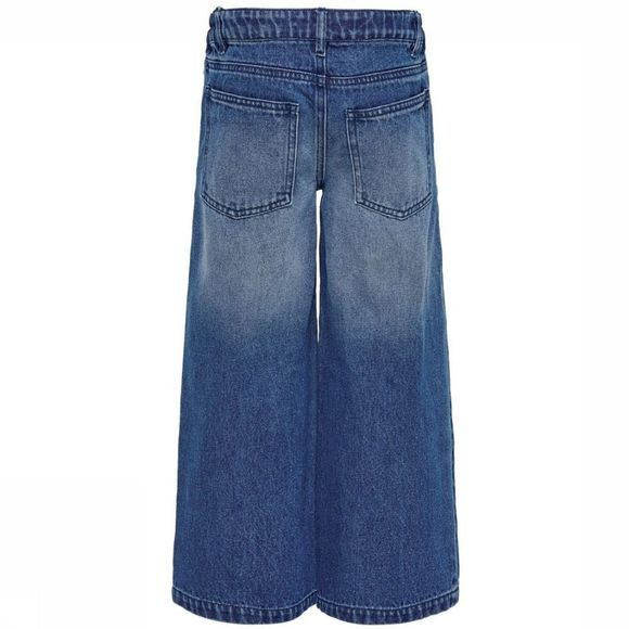 Kids Only Jeans lisa Wide Cropped Jeans/Middenblauw