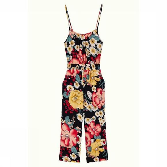 Petit Louie Jumpsuit Pepper Carioca Zwart/Ass. Bloem