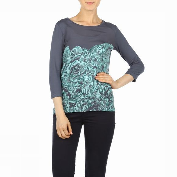 Terre Bleue T-Shirt Tb Theresa 3/4M 00 Mid Grey/Turquoise