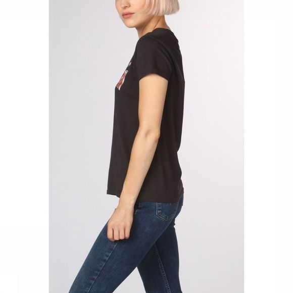 Levi's T-Shirt The Perfect Zwart/Assortiment Bloem