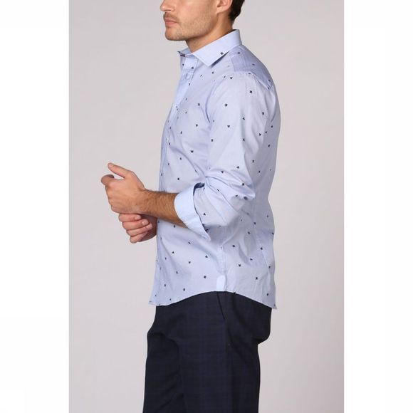 Haze & Finn Shirt Mc11-0100-12 light blue/Assortment Geometric