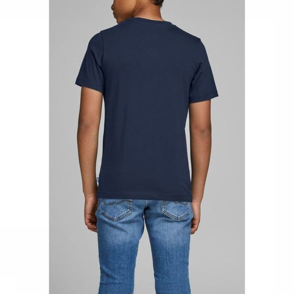 Jack & Jones T-Shirt Jordorsey Tee Ss Crew Neck Jr Donkerblauw