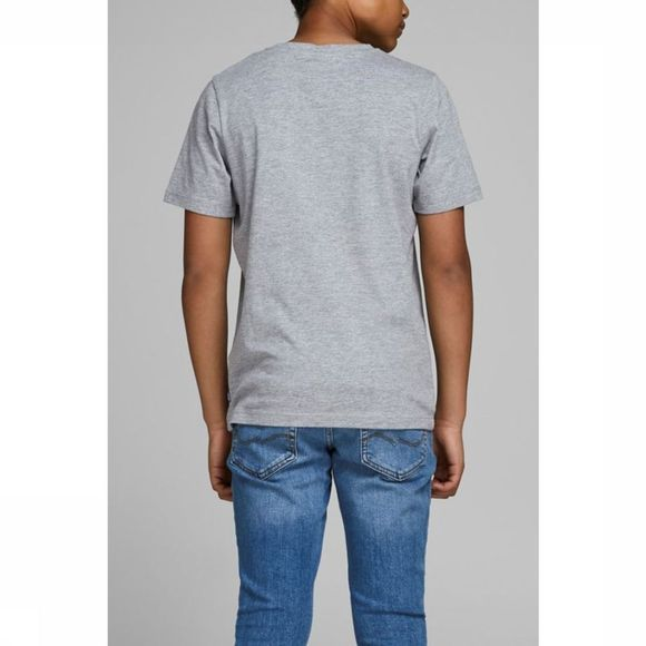 Jack & Jones T-Shirt Jordorsey Tee Ss Crew Neck Jr Gris Clair Mélange