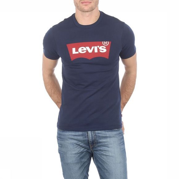 Levi's T-Shirt Graphic Set-In Neck Donkerblauw