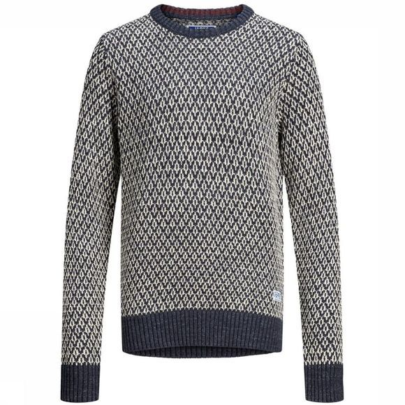 Jack & Jones Trui Jprdeep Knit Crew Neck Junior Donkerblauw/Assortiment
