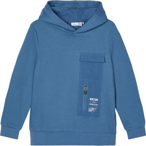 Name It Trui Nkmraimo Ls W. Hood Bru Middenblauw
