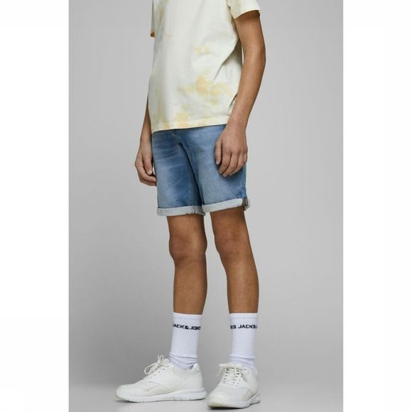 Jack & Jones Short Jjirick Jjicon 003 I.K Sts Jr Jeans/Lichtblauw