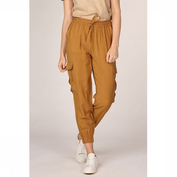 Soft Rebels Trousers Mythae Ankle camel