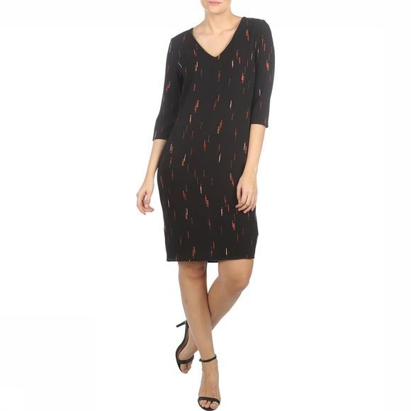 Ichi Dress Bisto Dr black/mid red