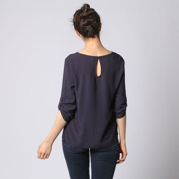 Only Blouse First 3/4 Fold Up Donkerblauw