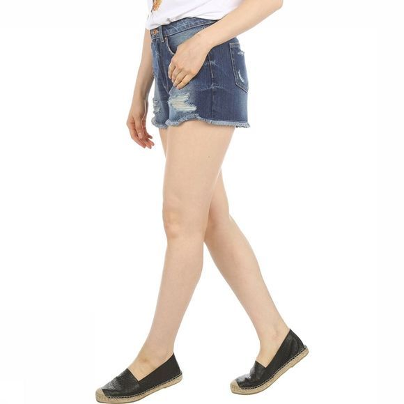 Only Short Mary High Waist Denim Middenblauw