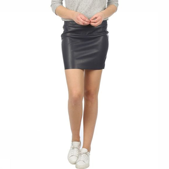 Vero Moda Skirt Judy Butter Short Pu dark blue