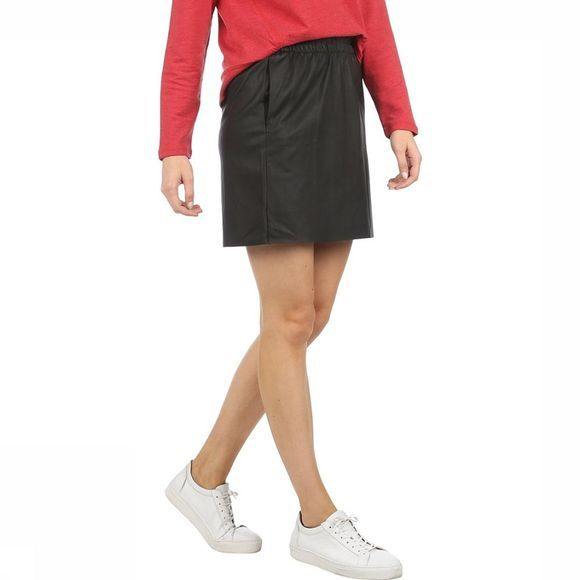 Vero Moda Rok Noora Shirt Faux Leather Zwart