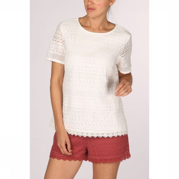 Vero Moda Shirt honey Lace Ss Vip off white