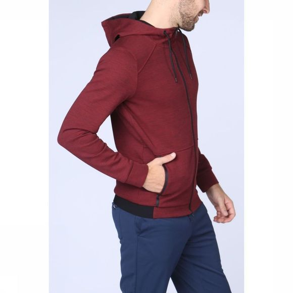 First Pull Siraz Hood Zip Bordeaux
