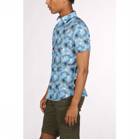 Jack & Jones Shirt orrick light blue/Assortment Flower