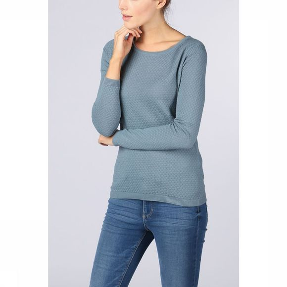 Vero Moda Basics Pullover care Structure Ls O-Neck Noos light blue