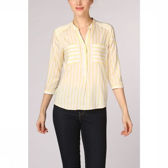 Vero Moda Blouse erika Stripe 3/4 E10 Color Wit/Middengeel